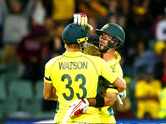 Shane-Watson-L-and-Glenn-Maxwell-embrace-following-their-six-wicket-win-over-Pakistan-in-quarter-final-in-Adelaide-Reuters-Photo