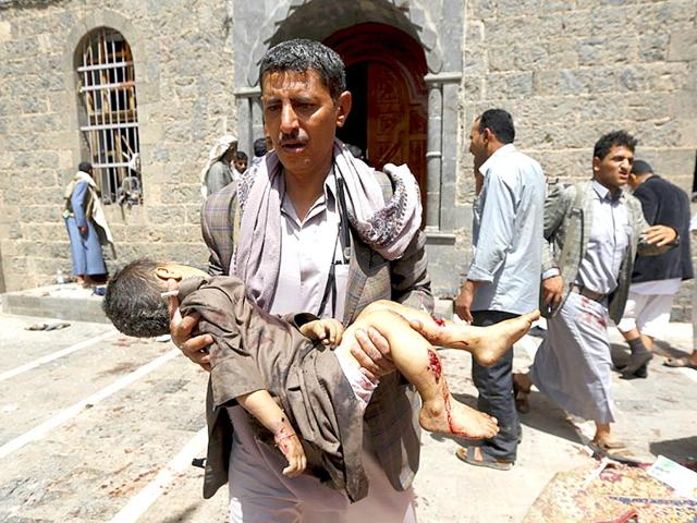 People-react-after-being-injured-in-bomb-attack-inside-a-mosque-in-Sanaa-Reuters-Photo