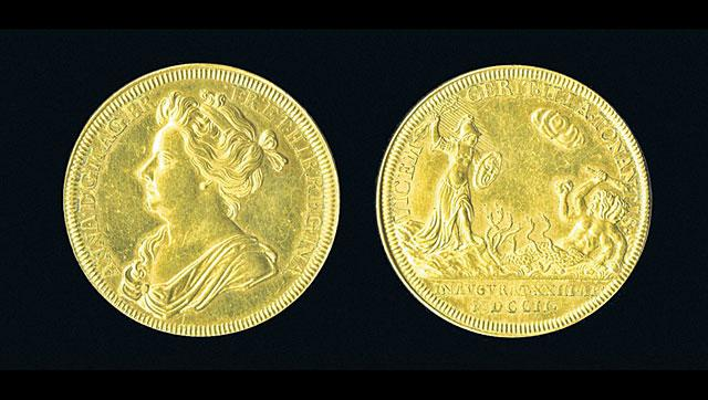 Newton,Isaac newton,coronation medal