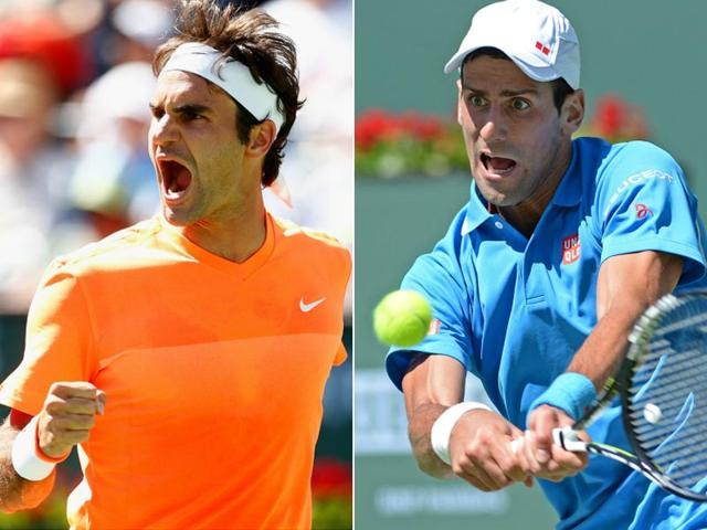 Roger Federer,Novak Djokovic,Indian Wells