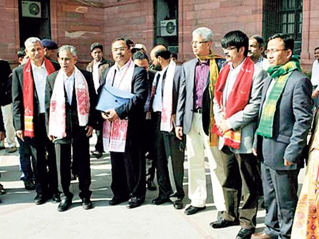 ULFA-leader-Arabinda-Rajkhowa-third-from-left-and-other-leaders-in-New-Delhi-HT-Photo