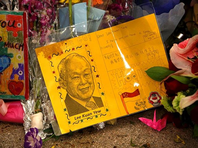 A-card-for-Singapore-s-former-prime-minister-Lee-Kuan-Yew-lies-at-a-well-wishing-corner-at-the-Singapore-General-Hospital-in-Singapore-Reuters-Photo