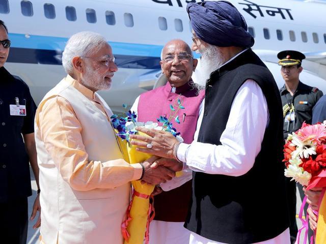 Prime Minister,Narendra Modi,Parkash Singh Badal