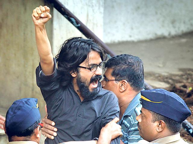 Cartoonist-Aseem-Trivedi-was-arrested-by-Mumbai-police-in-2012-after-a-case-was-registered-against-him-for-flashing-some-of-his-cartoons-during-a-rally-at-the-MMRDA-ground-in-Bandra-Vijayanand-Gupta-HT-photo