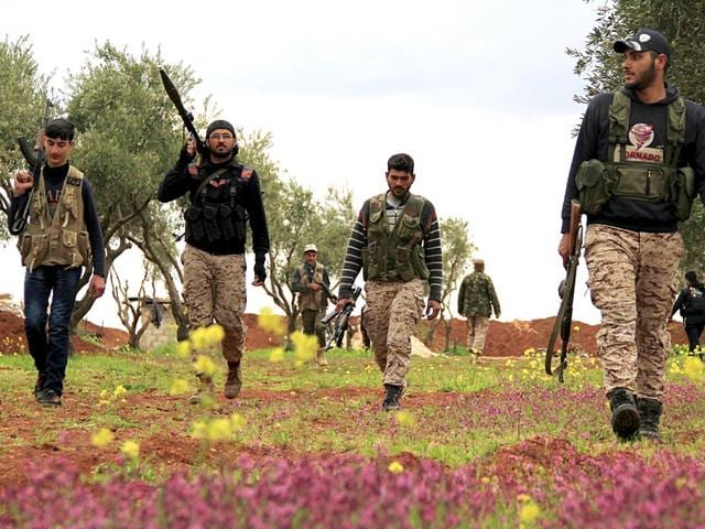 Syrian Civil war,Syrian rebel fighters,United States