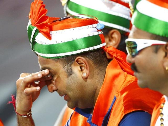 Indian-cricket-fans-react-as-India-bats-against-Australia-during-their-Cricket-World-Cup-semi-final-match-in-Sydney-March-26-2015-REUTERS