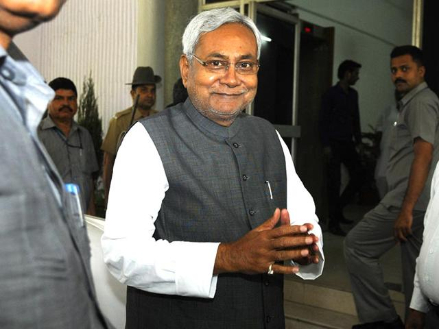 Bihar-chief-minister-Nitish-Kumar-at-Bihar-Bhawan-for-the-meeting-with-Prime-Minister-Narendra-Modi-not-in-pic-at-South-Block-in-New-Delhi-Sonu-Mehta-Hindustan-Times
