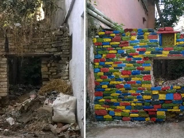 A-50-year-old-wall-has-been-cleaned-and-painted-by-the-group-in-Vidisha-HT-Photo