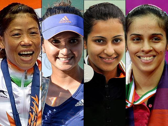 Women-power-From-L-to-R-Mary-Kom-Sania-mirza-Heena-Sidhu-Saina-Nehwal