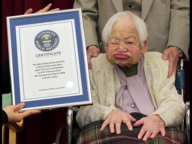 Japan-s-Misao-Okawa-then-114-years-old-poses-with-the-certificate-of-the-world-s-oldest-woman-which-was-presented-to-her-by-Guinness-World-Records-at-a-nursing-home-in-Osaka-western-Japan-File-photo