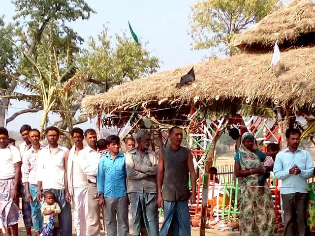People-of-two-hamlets-of-Barwan-Kalan-and-Barwan-Khurd-located-300-km-south-west-of-Patna-celebrate-the-commissioning-of-a-road-built-by-the-villagers-themselves-after-repeated-pleas-to-the-government-did-not-work-HT-Photo