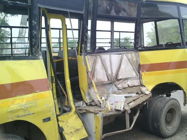 The-mangled-remains-of-the-school-bus-that-met-with-an-accident-HT-Photo