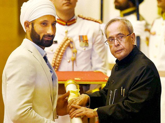 The-team-is-motivated-post-the-Champions-Trophy-2014-where-India-beat-top-teams-says-hockey-team-captain-Sardar-Singh-The-skipper-is-heading-into-the-tournament-on-a-personal-high-having-received-the-Padma-Shri-PTI-Photo