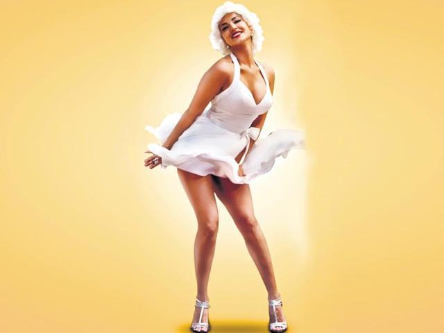 Sunny Leone does a Marliyn Monroe for Kuch Kuch Locha Hai