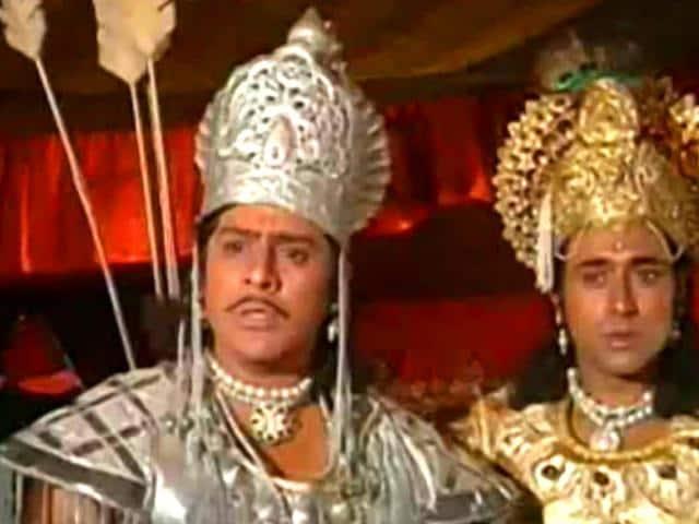A-still-from-Mahabharat-where-Arjun-and-Krishna-are-seen