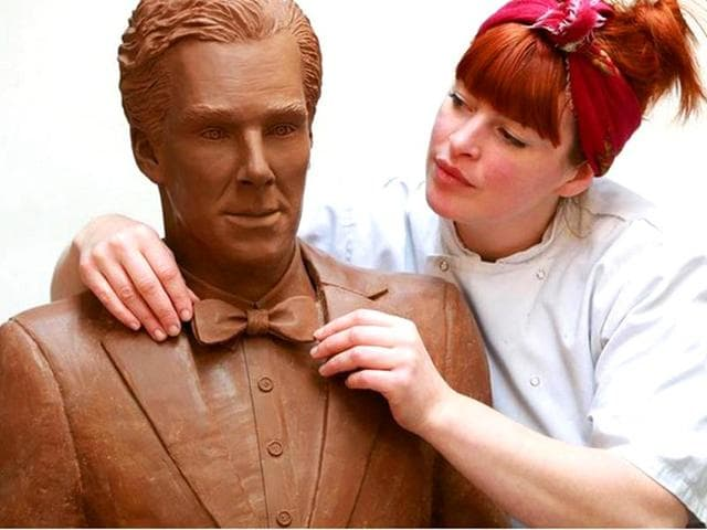 He-s-tastiest-of-them-all-Benedict-Cumberbatch-s-life-sized-chocolate-statue