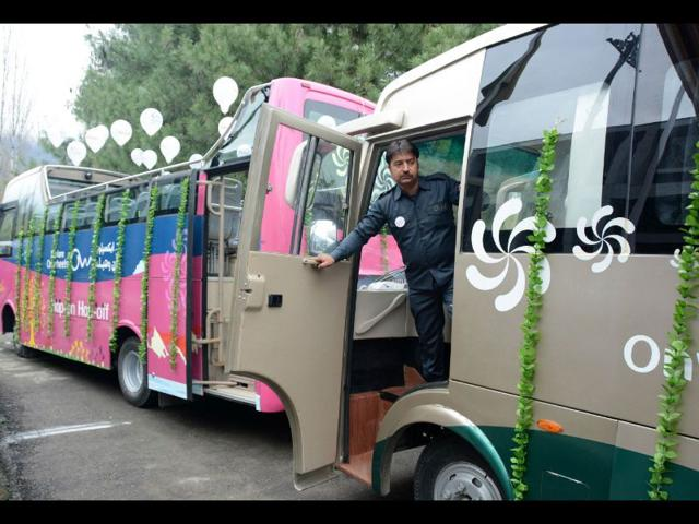 A-theme-based-high-end-fleet-of-luxurious-buses-were-launched-here-the-first-such-initiative-in-J-k-to-provide-better-facilities-to-tourists-visiting-the-Valley-Waseem-Andrabi-HT