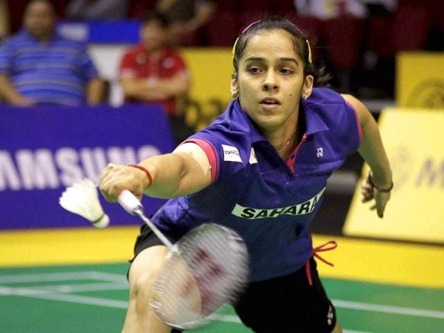 Saina-Nehwal-returns-a-shot-to-China-s-Sun-Yu-during-their-women-s-singles-quarterfinal-match-at-the-Malaysia-Open-AP-Photo