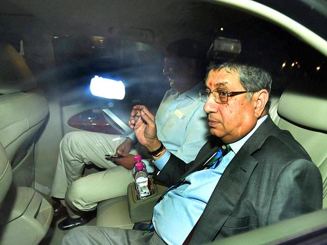 The-International-Cricket-Council-ICC-headed-by-N-Srinivasan-sent-a-letter-to-BCCI-chief-Jagmohan-Dalmiya-after-pictures-emerged-of-board-secretary-Anurag-Thakur-in-the-company-of-a-suspected-bookie-PTI-Photo