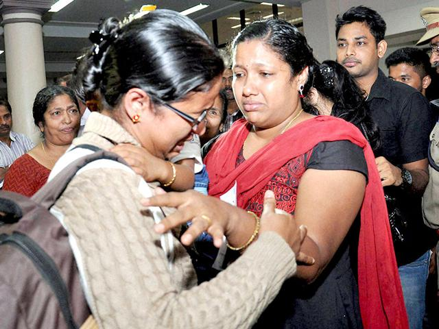 The-first-batch-of-Kerala-nurses-among-168-Indians-evacuated-from-Yemen-by-Air-Force-C-17-Globemaster-aircraft-arrive-at-Kochi-International-Airport-PTI-Photo