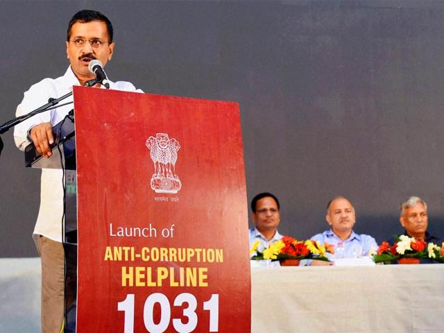 Delhi-chief-minister-Arvind-Kejriwal-speaks-during-the-launch-of-the-anti-corruption-helpline-number-on-5-April-2015-PTI-Photo