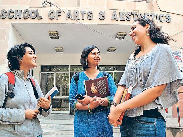Students-at-the-School-of-Arts-and-Aesthetics-are-introduced-to-various-socio-cultural-aspects-of-art-forms-found-across-the-country-Photo-S-Burmaula