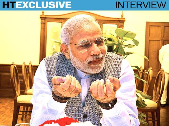 Prime-Minister-Narendra-Modi-speaks-to-Hindustan-Times-a-day-before-his-three-nation-European-tour-Photo-by-Sanjoy-Narayan