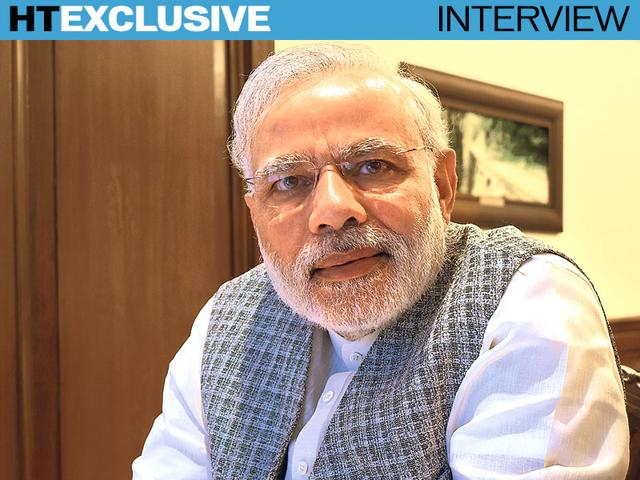 Prime-Minister-Narendra-Modi-speaks-to-Hindustan-Times-a-day-before-his-three-nation-tour-Photo-by-Sanjoy-Narayan