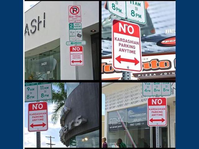 Signs-saying-No-Kardashian-Parking-put-up-in-Hollywood-Photo-Instagram