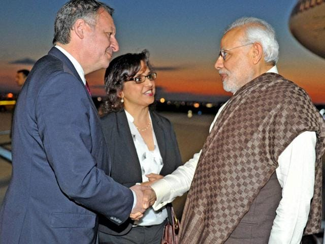 Prime-Minister-Narendra-Modi-being-greeted-by-French-sports-minister-Thierry-Braillard-upon-his-arrival-at-the-Paris-Orly-International-airport-PTI-Photo