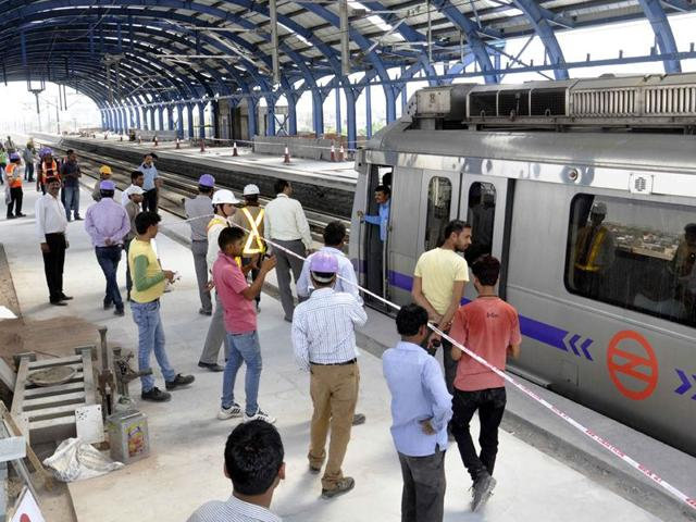 Officials-at-the-Ghitorni-station-were-caught-collecting-tokens-from-passengers-at-exit-gates-and-reselling-them-to-other-passengers-Pankaj-Savita-HT-File-Photo