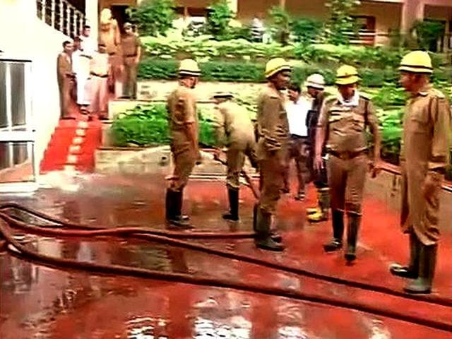 Fire-breaks-out-at-Gujarat-Bhavan-in-Delhi-ANI-Photo