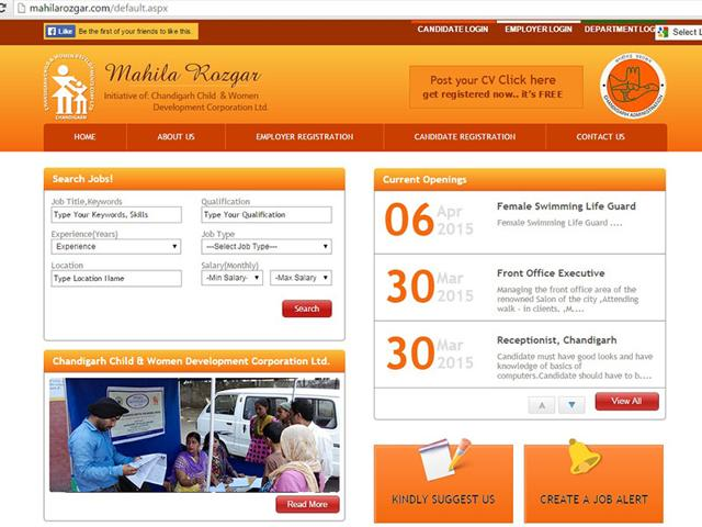 The-website-mahilarozgar-com-has-just-four-current-openings-two-weeks-after-its-launch