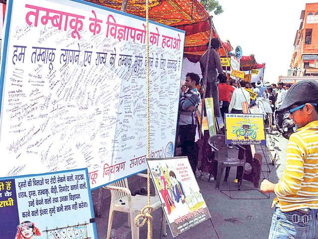 A-signature-campaign-was-recently-organised-in-Jaipur-to-raise-awareness-about-the-ill-effects-of-tobacco-consumption-HT-File