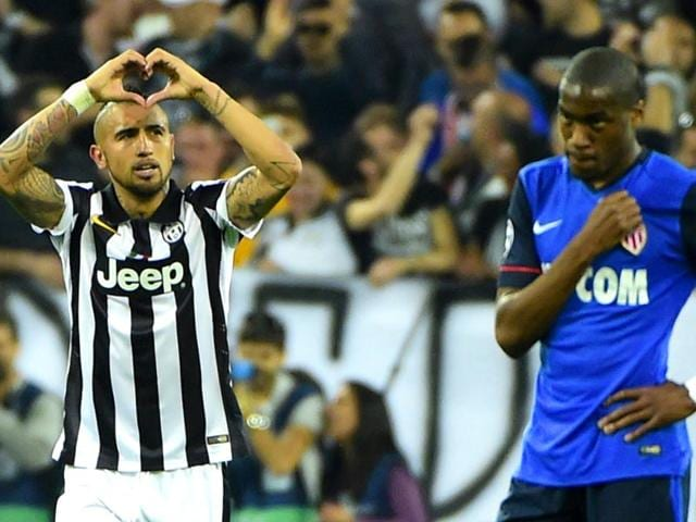 Juventus-midfielder-Arturo-Vidal-celebrates-after-scoring-a-penalty-during-the-UEFA-Champions-League-quarter-final-against-AS-Monaco-at-the-Juventus-Stadium-in-Turin-on-Tuesday-AFP-Photo