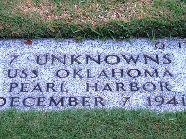 A-gravestone-identifying-the-resting-place-of-7-unknowns-from-the-USS-Oklahoma-is-shown-at-the-National-Memorial-Cemetery-of-the-Pacific-in-Honolulu-AP-Photo