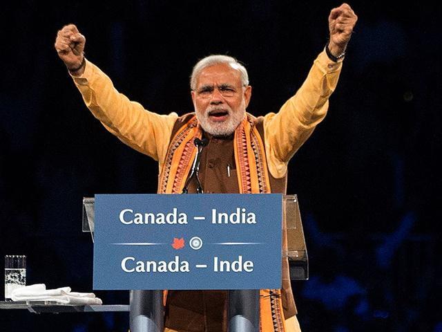 Indian-Prime-Minister-Narendra-Modi-addresses-the-crowd-crowd-during-an-event-in-Toronto-on-Wednesday-April-15-2015-AP-Photo
