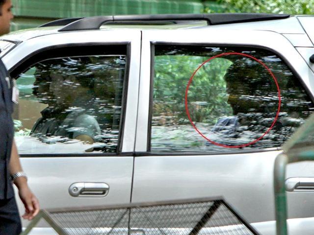 Congress-vice-president-Rahul-Gandhi-circled-arrives-at-his-residence-in-New-Delhi-on-Thursday-Arun-Sharma-HT-Photo