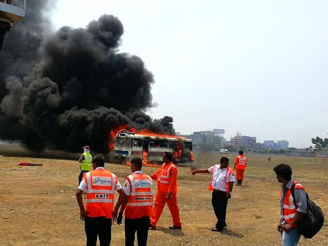 Mumbai-airport-conducted-a-3-hour-long-mock-emergency-drill-to-gauge-its-preparedness-in-dealing-with-air-mishaps