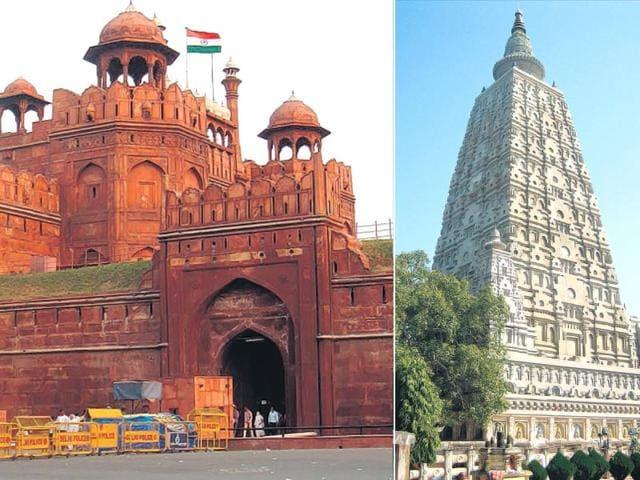 Taj Mahal,Khajuraho,Ajanta