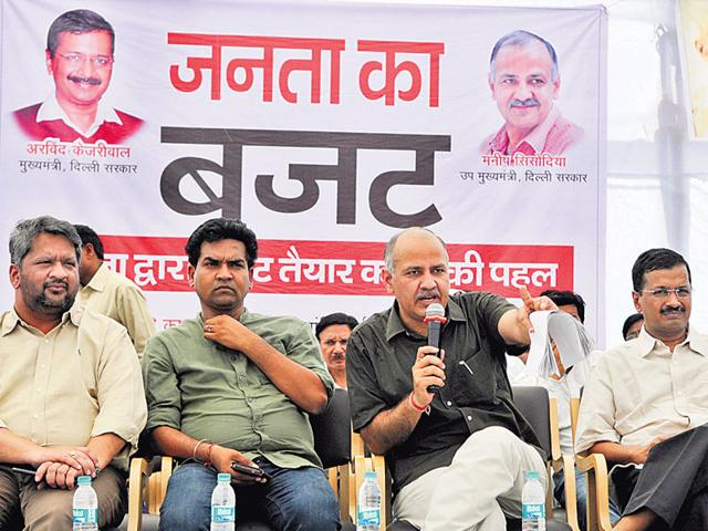 Dy-CM-Manish-Sisodia-CM-Arvind-Kejriwal-and-others-interact-with-residents-in-east-Vinod-Nagar-on-Sunday-Sushil-Kumar-HT