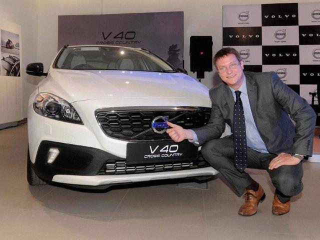 Tomas-Ernberg-Managing-Director-Volvo-India-at-the-launch-of-new-V40-Cross-Country-petrol-car-in-Mumbai-on-Monday-Photo-PTI