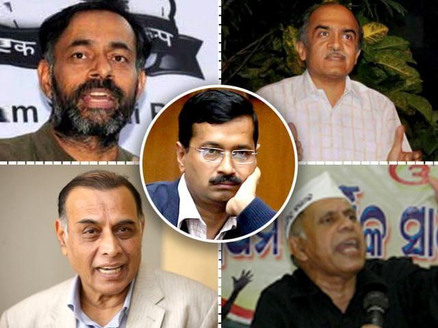 Prashant Bhushan,Yogendra Yadav,Swaraj Abhiyan