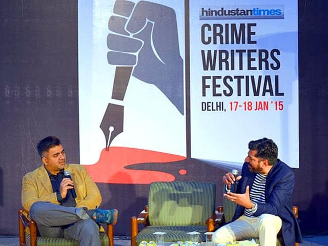 L-to-R-Hussain-Zaidi-and-Sandeep-Unnithan-at-HT-Crime-Writers-Fest-HT-Photo