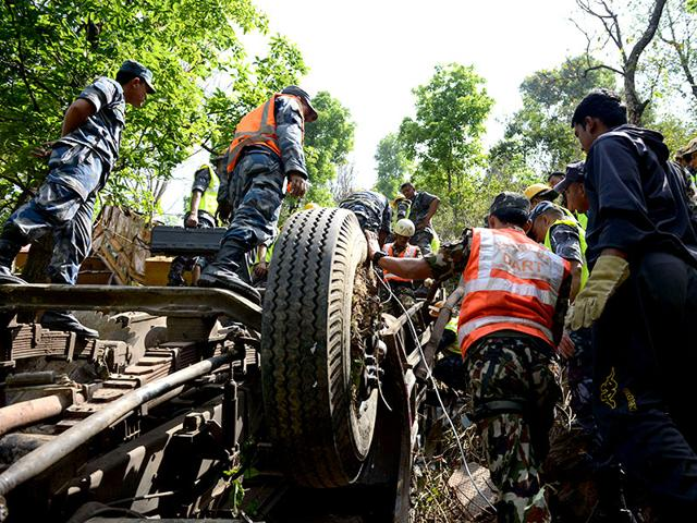 Nepal bus accident,Indian pilgrims killed,Nepal bus accident