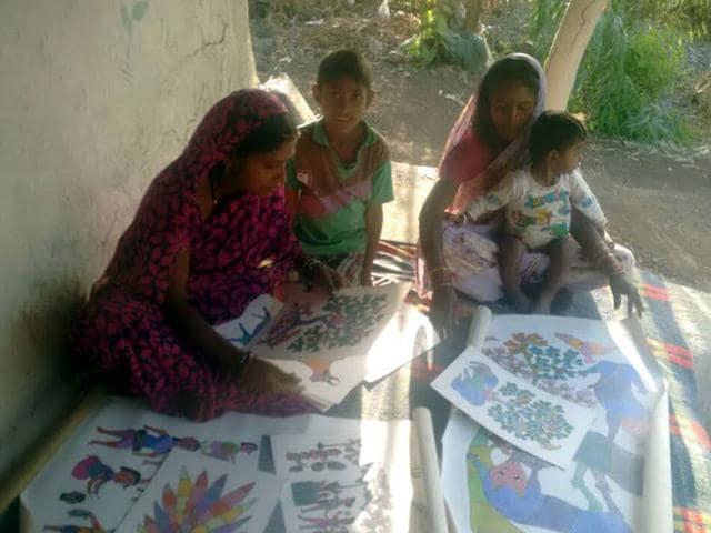 Gond painting,Patangarh,Dindori