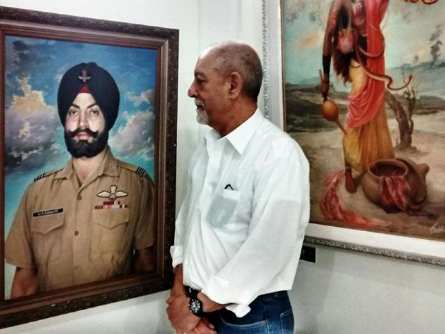 Painted-in-1974-the-portrait-of-Flight-Lieutenant-Harjit-Singh-Kahlon-is-now-on-display-at-the-Sobha-Singh-Art-Gallery-HT-Photo
