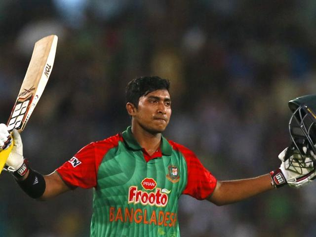 Bangladesh-s-Soumya-Sarkar-acknowledges-the-crowd-after-scoring-his-maiden-hundred-during-the-third-ODI-against-Pakistan-at-the-Shere-Bangla-National-Stadium-on-Wednesday-AP-Photo