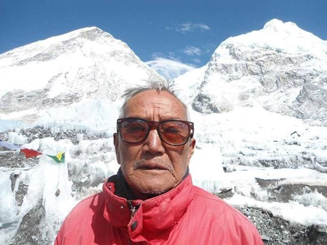 Mt Everest,Nepali climber Min Bahadur Sherchan,world's highest peak