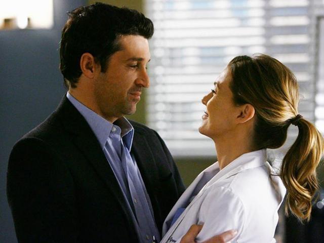 Dr-Derek-Shepherd-Patrick-Dempsey-with-his-on-screen-wife-Dr-Meredith-Grey-Ellen-Pompeo-Photo-Grey-s-Anatomy-Facebook-page